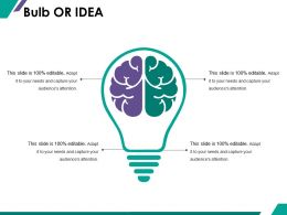 Bulb Or Idea Ppt Summary Slides