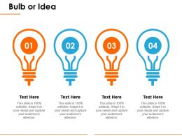 Bulb Or Idea Ppt Themes