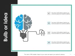Bulb Or Idea Ppt Visual Aids Background Images