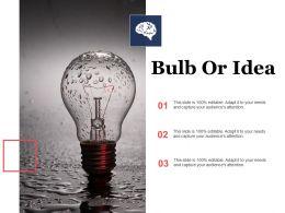 Bulb Or Idea Ppt Visual Aids Inspiration