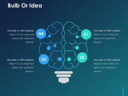 Bulb Or Idea Ppt Visual Aids Outline