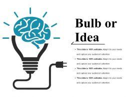 Bulb Or Idea Ppt Visuals