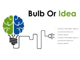 Bulb Or Idea Presentation Graphics