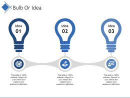 Bulb Or Idea Presentation Ideas