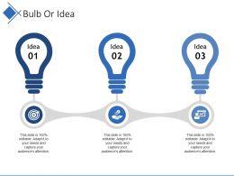 Bulb Or Idea Presentation Ideas