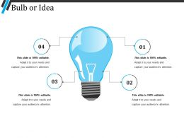 Bulb Or Idea Presentation Images