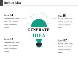 Bulb Or Idea Presentation Layouts
