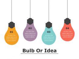 Bulb Or Idea Presentation Pictures
