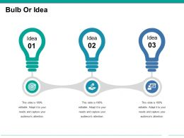 Bulb Or Idea Presentation Powerpoint