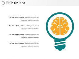 Bulb Or Idea Presentation Powerpoint Example