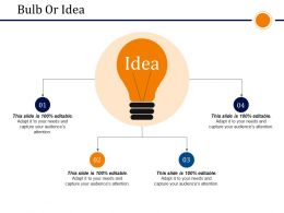 Bulb Or Idea Presentation Powerpoint Templates