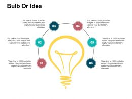 Bulb Or Idea Presentation Visual Aids