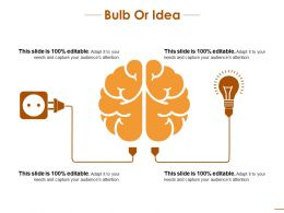 Bulb Or Idea Product Innovation Strategy Ppt Ideas Graphics Tutorials