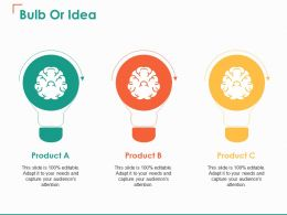 Bulb Or Idea Product Ppt Show Example File