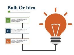 Bulb Or Idea Sales Performance Ppt File Designs Download