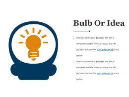 Bulb Or Idea Sample Of Ppt