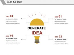 Bulb Or Idea Sample Of Ppt Presentation