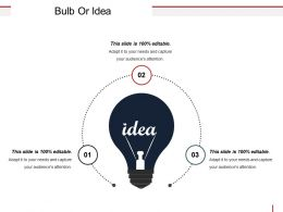 Bulb Or Idea Sample Ppt Presentation