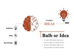 Bulb Or Idea Sample Presentation Ppt