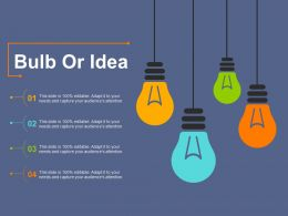 Bulb Or Idea Services And Support Ppt Diagram Lists