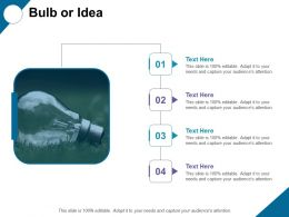Bulb Or Idea Strategy Management Ppt Show Background Images