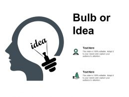 Bulb Or Idea Technology B170 Ppt Powerpoint Presentation Diagram Ppt