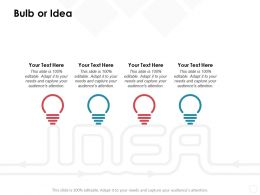 Bulb Or Idea Technology D316 Ppt Powerpoint Presentation File Example Introduction