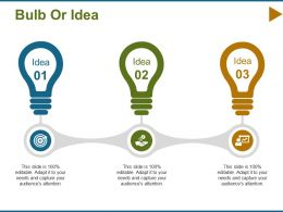 Bulb Or Idea Technology F463 Ppt Infographic Template Graphics Design