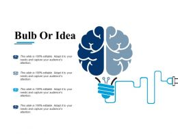 Bulb Or Idea Technology F471 Ppt Infographic Template Graphics Download