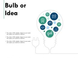 Bulb Or Idea Technology Innovation C716 Ppt Powerpoint Presentation Summary Clipart