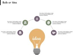 Bulb Or Idea Technology Marketing C734 Ppt Powerpoint Presentation Pictures Show
