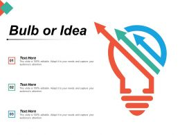 Bulb Or Idea Technology Marketing Planning Innovation Management