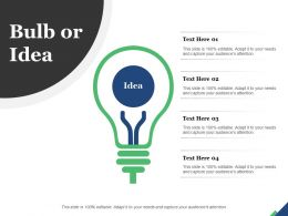 Bulb Or Idea Technology Marketing Planning Innovation Strategy