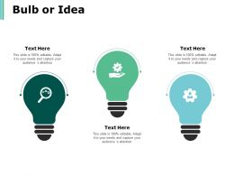 Bulb Or Idea Technology Marketing Ppt Powerpoint Presentation Infographics Rules