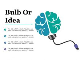 Bulb Or Idea Technology Mind Map F486 Ppt Powerpoint Presentation Outline Icon