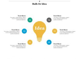 Bulb Or Idea Technology Ppt Infographic Template Background Images