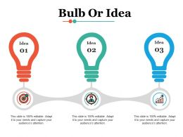 Bulb Or Idea Technology Ppt Infographic Template Demonstration