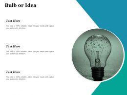 Bulb Or Idea Technology Ppt Inspiration Design Inspiration
