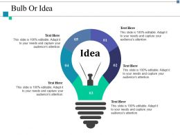 Bulb Or Idea Technology Ppt Layouts Example Introduction