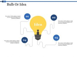 Bulb Or Idea Technology Ppt Powerpoint Presentation Deck
