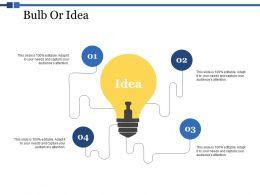 Bulb Or Idea Technology Ppt Powerpoint Presentation Deck