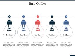 Bulb Or Idea Technology Ppt Powerpoint Presentation Diagram Graph Charts