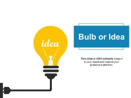 Bulb Or Idea Technology Ppt Powerpoint Presentation Diagram Images
