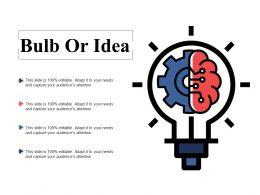 Bulb Or Idea Technology Ppt Powerpoint Presentation Diagram Lists