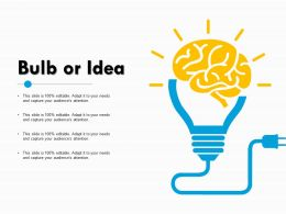 Bulb Or Idea Technology Ppt Powerpoint Presentation Diagram Ppt