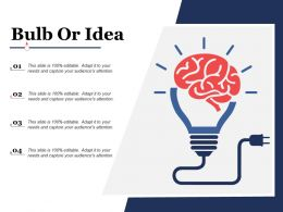 Bulb Or Idea Technology Ppt Powerpoint Presentation File Background Images