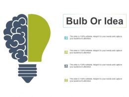 Bulb Or Idea Technology Ppt Powerpoint Presentation File Design Templates