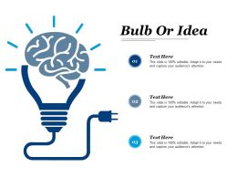 Bulb Or Idea Technology Ppt Powerpoint Presentation File Example