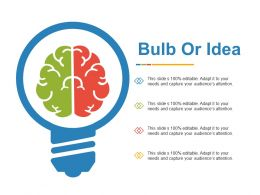 Bulb Or Idea Technology Ppt Powerpoint Presentation File Ideas