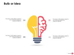 Bulb Or Idea Technology Ppt Powerpoint Presentation File Inspiration